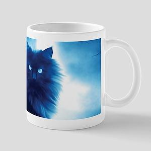Black Cat In The Night Mugs