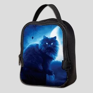 Black Cat In The Night Neoprene Lunch Bag