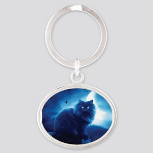 Black Cat In The Night Keychains