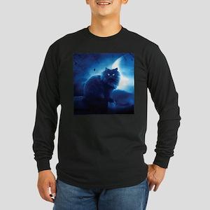 Black Cat In The Night Long Sleeve T-Shirt