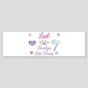 Leah - Grandpa's Little Princ Bumper Sticker