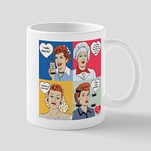 I Love Lucy Valentine's Day Collage Mug