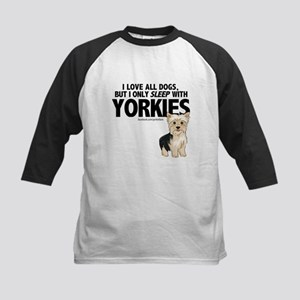 I Sleep with Yorkies Baseball Jersey