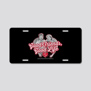 Lucy and Ethel:Good Friends Aluminum License Plate