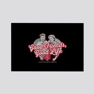 Lucy and Ethel:Good Friends Good Rectangle Magnet