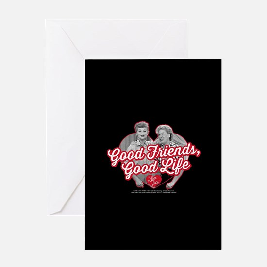 Lucy and Ethel:Good Friends Good Lif Greeting Card