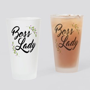 Boss Lady Drinking Glass