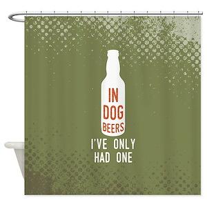 Dog Beer Shower Curtains