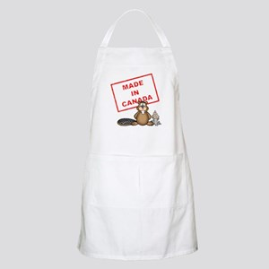 Made In Canada White Apron