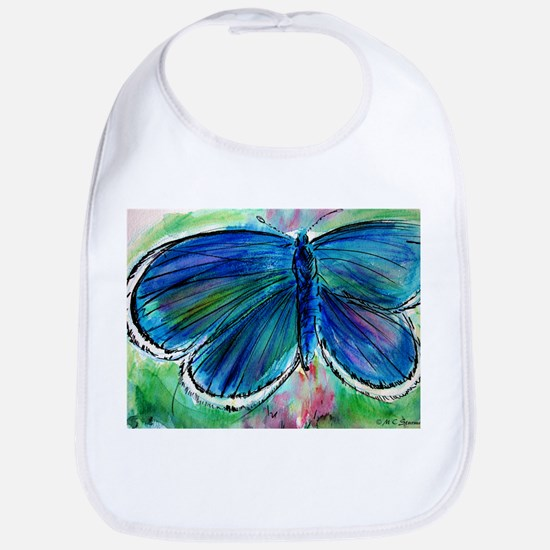 Blue Butterfly! Nature art! Baby Bib