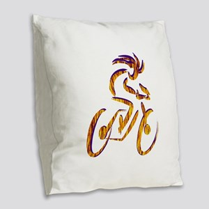 RIDE Burlap Throw Pillow