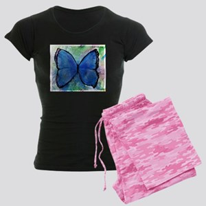 blue butterfly! colorful nature art! Pajamas
