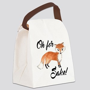 Oh for fox sake Canvas Lunch Bag