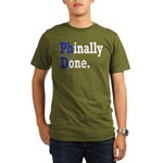 Phinally Done Graduat Organic Men's T-Shirt (dark)