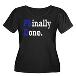 Phinally Women's Plus Size Scoop Neck Dark T-Shirt