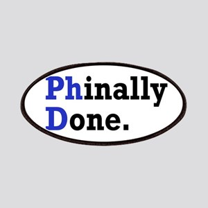 Phinally Done Graduate Student Humor Patch