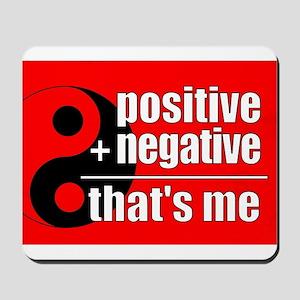 Red Positive + Negative Mousepad