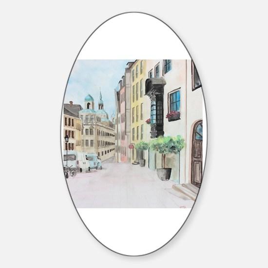 Cute Nuremberg Sticker (Oval)