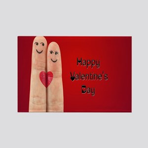 Happy Valentines Fingers Magnets