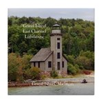 Grand Island East Channel Lighthouse Tile Coaster