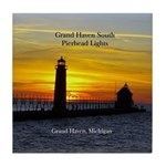 Grand Haven South Pierhead Lights Tile Coaster