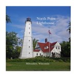 North Point Lighthouse Tile Coaster