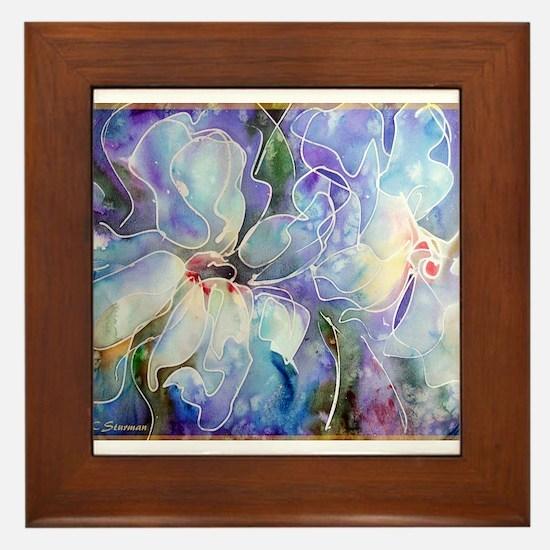 Magnolias! Floral art! Framed Tile