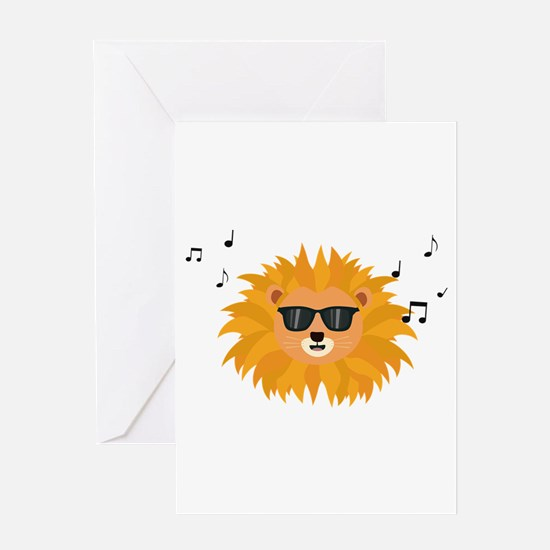 Cool Lion head Greeting Cards