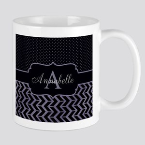 Modern Dot Arrow Monogram Mugs