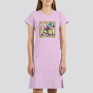 Fleur De Lis Women's Nightshirt T-Shirt
