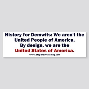 History for Demwits Sticker (Bumper)