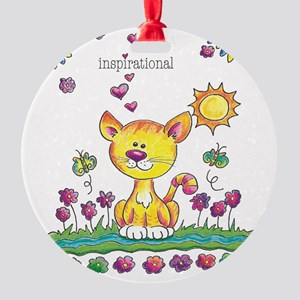 Smileys - Yellow Cat Ornament