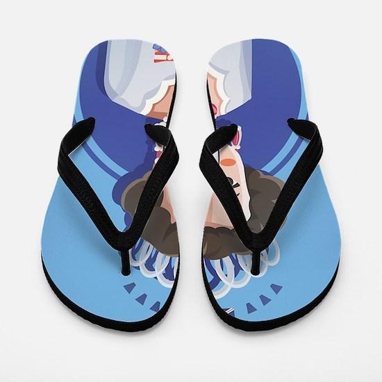 queen elizabeth 2 Flip Flops