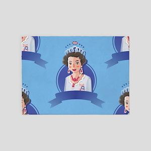 queen elizabeth 2 5'x7'Area Rug
