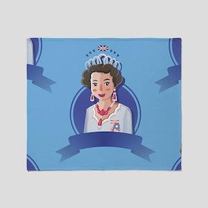 queen elizabeth 2 Throw Blanket