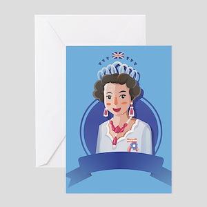 queen elizabeth 2 Greeting Cards