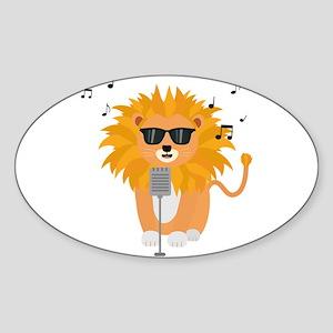 Cool music lion Sticker