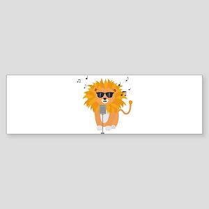 Cool music lion Bumper Sticker
