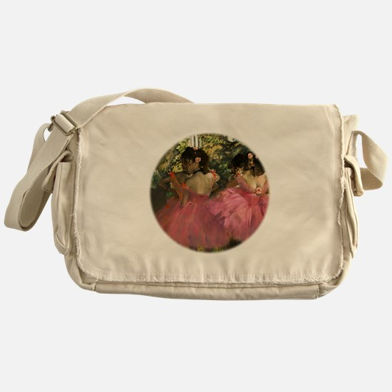 Dancers in Pink by Edgar Degas Messenger Bag