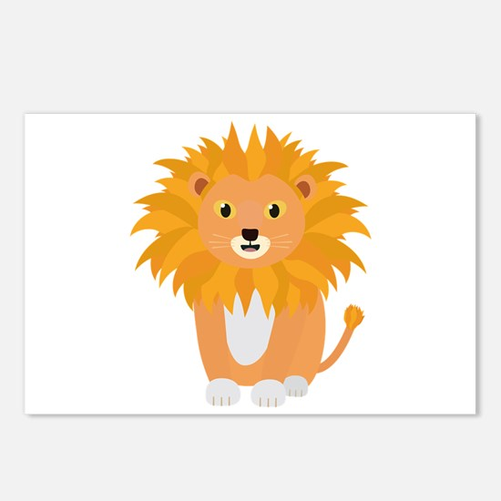 Cute happy Lion Postcards (Package of 8)
