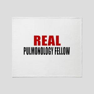 Real Pulmonology Fellow Throw Blanket
