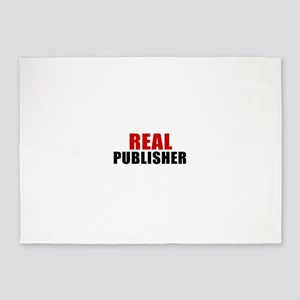 Real Publisher 5'x7'Area Rug