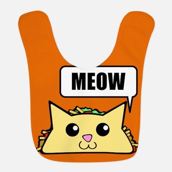 Taco Cat Meow OBG Polyester Baby Bib