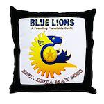Blue Lions Logo Throw Pillow