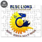 Blue Lions Logo Puzzle