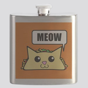 Taco Cat Meow OBG Flask
