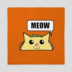 Taco Cat Meow OBG Queen Duvet
