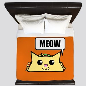 Taco Cat Meow OBG King Duvet