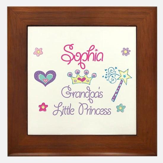 Sophia - Grandpa's Little Pri Framed Tile