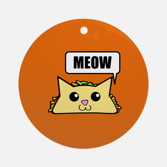 Taco Cat Meow OBG Round Ornament
